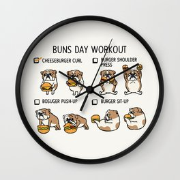 Buns Day Workout Wall Clock