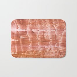 Peach watercolor Bath Mat