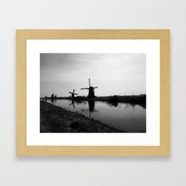 Windmills Framed Art Print