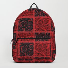 Patchwork . Roses are red. Backpack