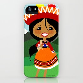 Girls of the World: Peru iPhone Case