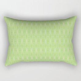 hopscotch-hex bright green Rectangular Pillow
