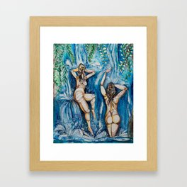 Waterfall Bath Framed Art Print