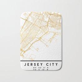 JERSEY CITY NEW JERSEY STREET MAP ART Bath Mat