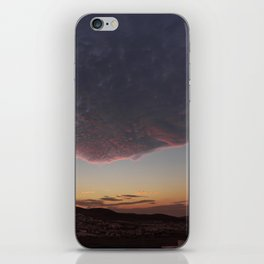 Flying face iPhone Skin
