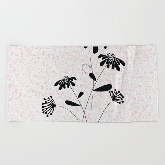 flower..2 Beach Towel