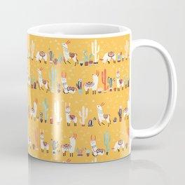 Happy llama with cactus in a pot Coffee Mug
