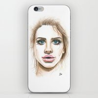 lana iPhone & iPod Skins featuring Lana  by Ami Leigh Barrett