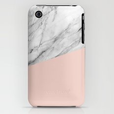 Marble and pale dogwood color iPhone (3g, 3gs) Slim Case