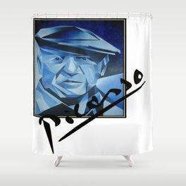 Picasso's Signature  Shower Curtain