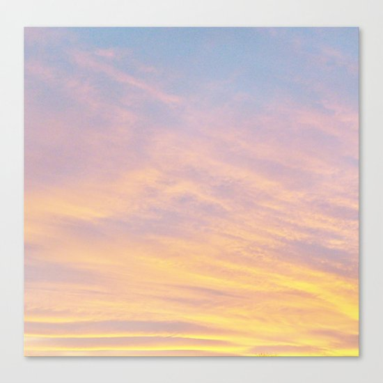 Blue Rose Yellow Sunrise Canvas Print