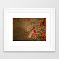 england Framed Art Prints featuring England by Ebere Emenike
