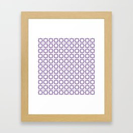 Purple Trellis Framed Art Print