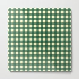 FORREST GREEN CHECK Metal Print