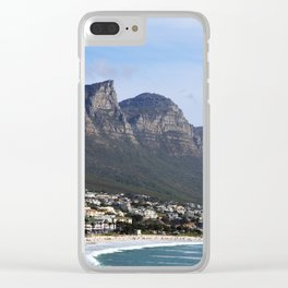 Ocean Landscape  (Mountain and Sea) Clear iPhone Case