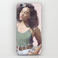striped iPhone & iPod Skins featuring Striped by Kimsey Art