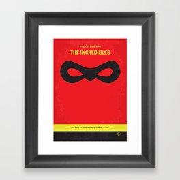 No368 My Incredibles minimal movie poster Framed Art Print