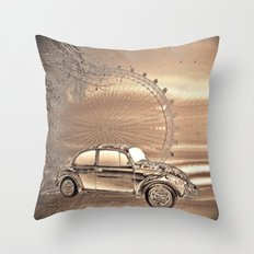 A day in the city Throw Pillow