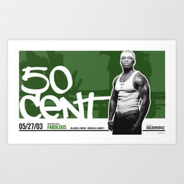 50 Cent poster - Honolulu, Hawaii 2003 Art Print