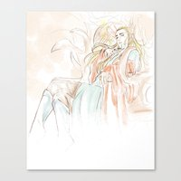 hobbit Canvas Prints featuring Thranduil_The Hobbit by JoySlash