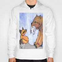 gift card Hoodies featuring Gift by Sparki Wolf