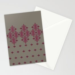 Scrollwork on Gray Stationery Cards