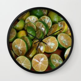 SLICES OF LIMES Wall Clock
