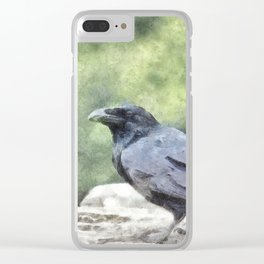 Crows Everywhere Are Equally Black Clear iPhone Case