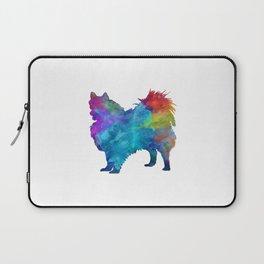 Pomeranian in watercolor Laptop Sleeve