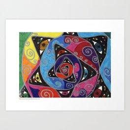Eye Spiral Art Print