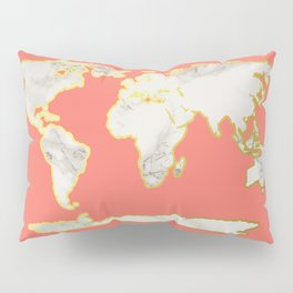 Marble Map Pillow Sham