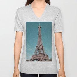 paris, france, eiffel tower Unisex V-Neck