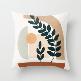 Soft Shapes III Throw Pillow