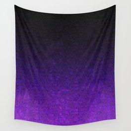 Purple & Black Glitter Gradient Wall Tapestry