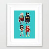 league Framed Art Prints featuring Adventure League by randallmaynard