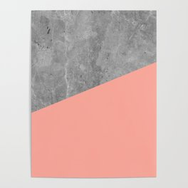 Simply Concrete Dogwood Pink Poster