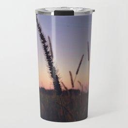 Indiana Sunset - Cattails Travel Mug