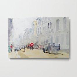 Hazy Havana Street Metal Print