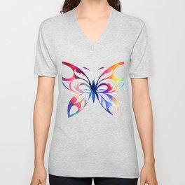 Butterfly 309 Unisex V-Neck