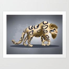 Bison Leopard Art Print