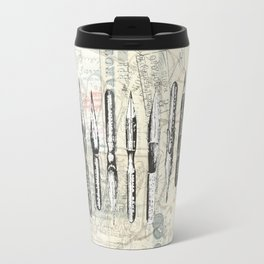 French Paris Writing Ink Nibs Travel Mug