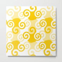 Swirled Metal Print