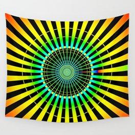 Rainbow Spokes Wall Tapestry