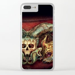 Skull And Beasts Clear iPhone Case
