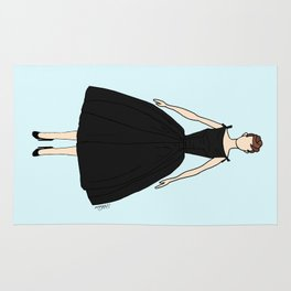 Audrey Hepburn Vintage Retro Fashion 1 Rug