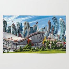 Downtown Calgary Skyline Rug