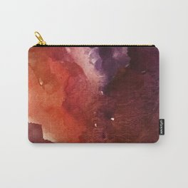 Starlight [3]: a pretty abstract watercolor piece in reds and purples by Alyssa Hamilton Art Carry-All Pouch