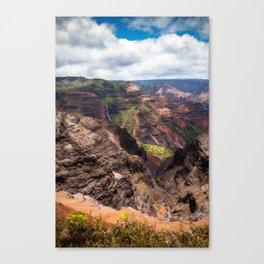 Waimea Canyon on Kauai, Hawaii Canvas Print