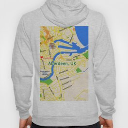Map of Aberdeen, UK Hoody