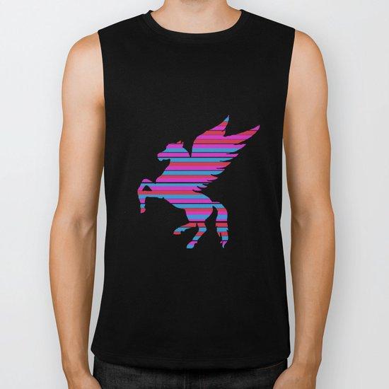 Pegasus Stripes Biker Tank
